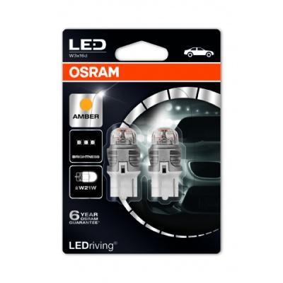 """OSRAM autožárovka """"WY21W"""" LEDriving® Premium 12V W3x16d oranžová (Blistr 2ks) - POŠKOZENÝ OBAL"""