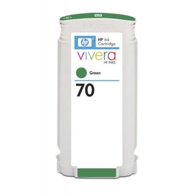 HP 70 Green DJ Ink Cart, 130 ml, C9457A