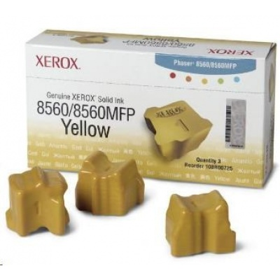Xerox Genuine Solid Ink pro Phaser 8560 Yellow (3 STICKS)
